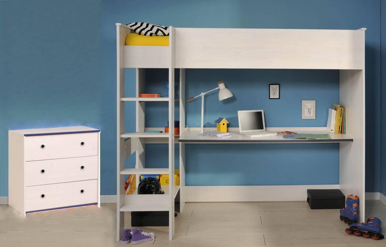 Kinderzimmer Set SMOOZY 2-teilig weiß von Parisot für Jungs