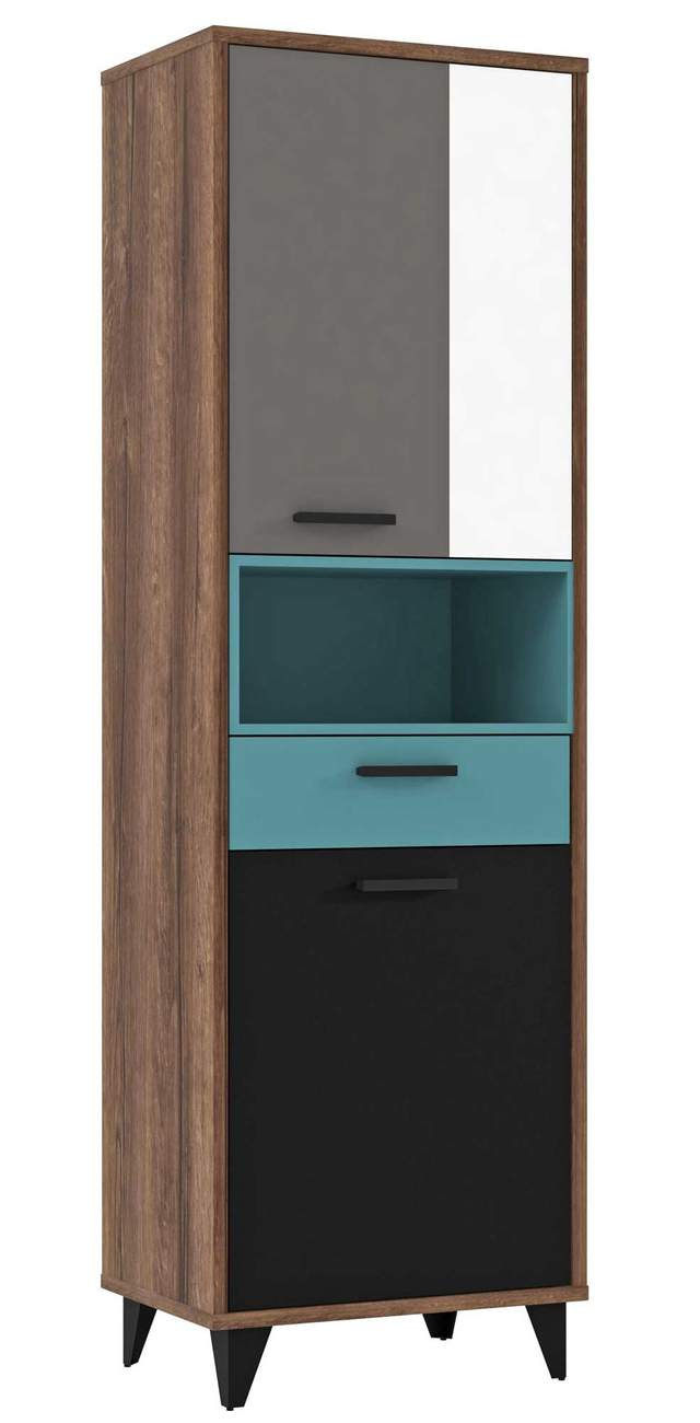 regal schrank raven 2 t ren dekor schlammeiche mit wei gr n grau. Black Bedroom Furniture Sets. Home Design Ideas