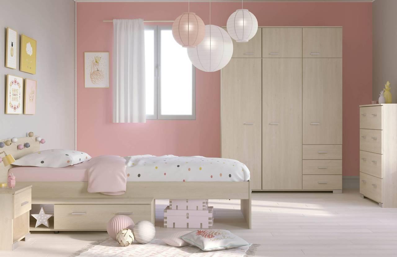 Kinderzimmer Set Jugendzimmer GALAXY 553A Eiche 4-teilig