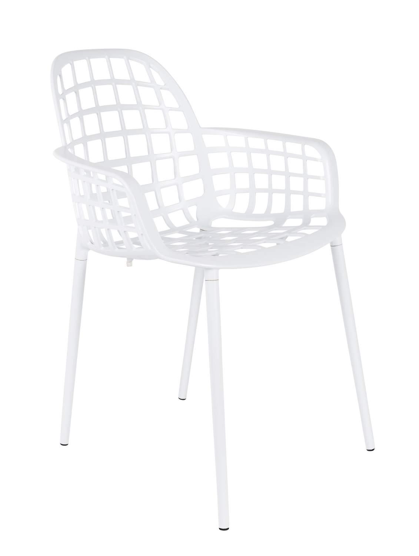 Stuhl Gartenstuhl ALBERT Aluminium Weiß Von ZUIVER