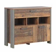 Kommode CLIF 2 Türen 1 Schublade Dekor: Old Wood Vintage von Forte