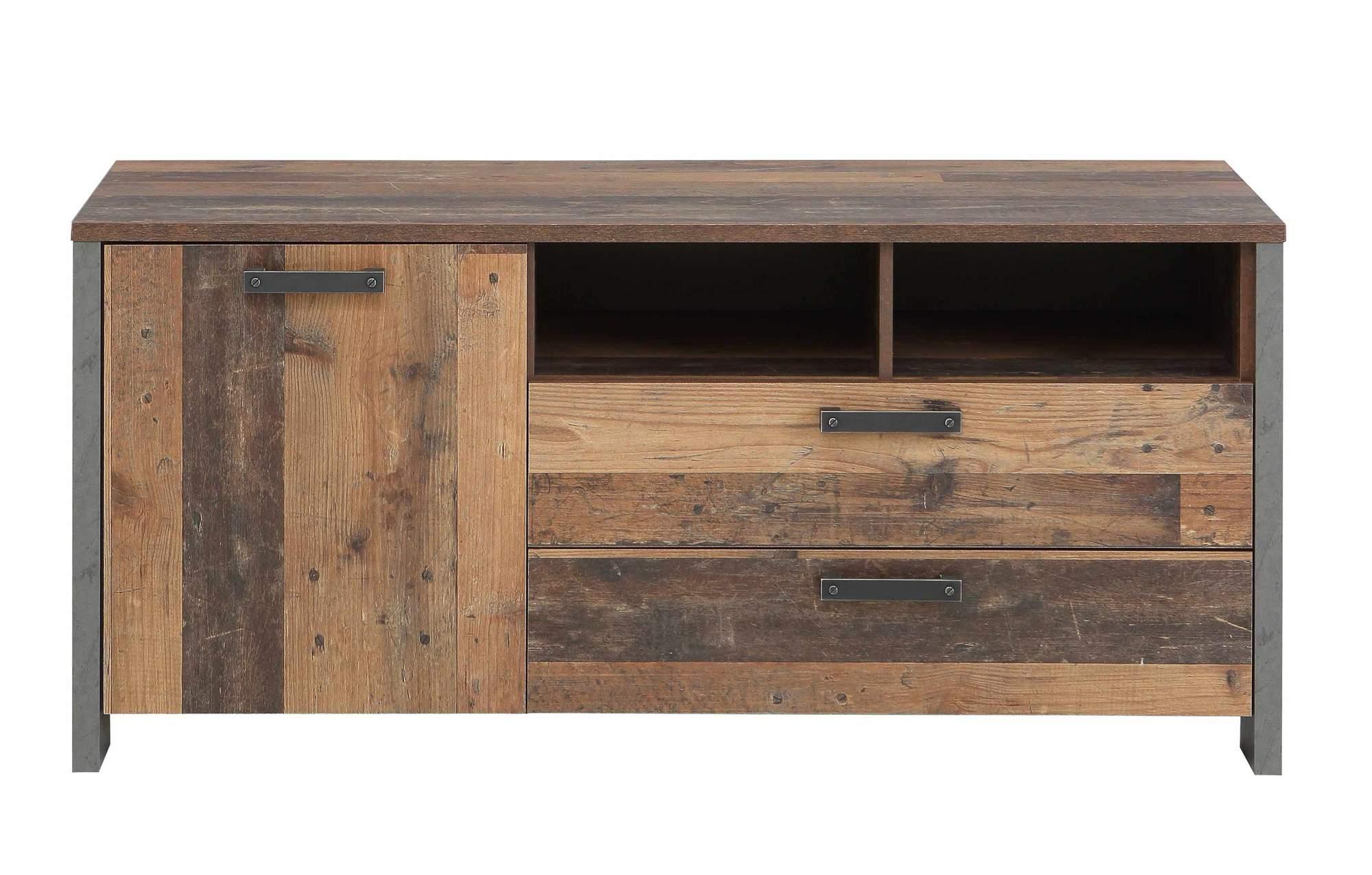 Lowboard Tv Kommode Clif 142 Cm Optik Old Wood Vintage Von Forte