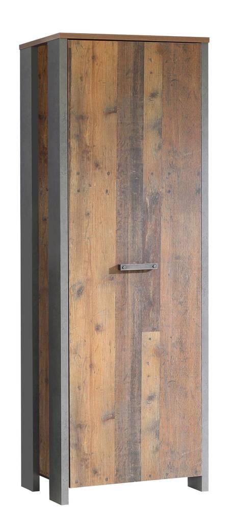Dielenschrank CLIF 1-trg. Dekor: Old Wood Vintage von Forte