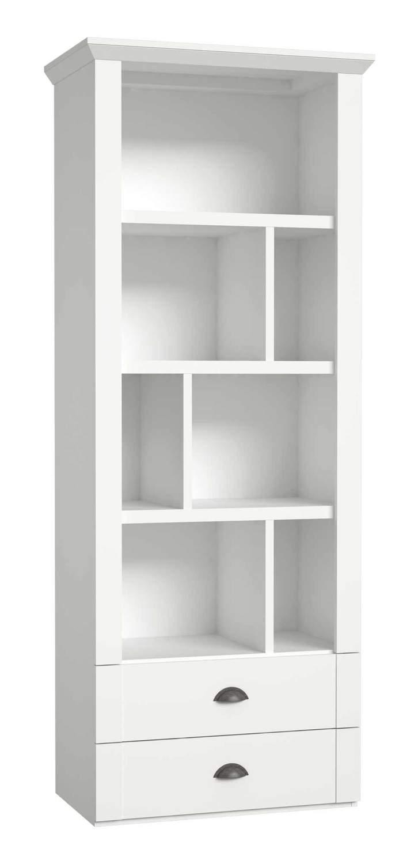 b cherregal regal marida mit 2 schubladen optik wei matt von forte. Black Bedroom Furniture Sets. Home Design Ideas