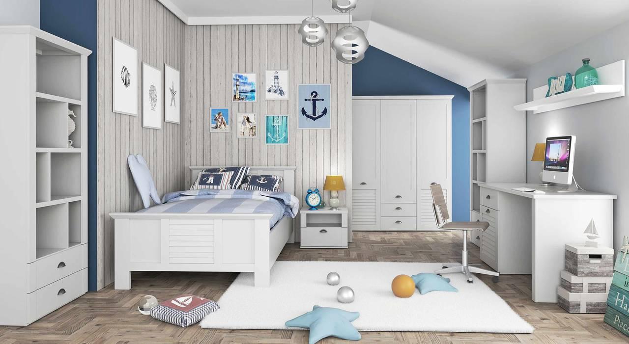 Jugendzimmer MARIDA 1 Komplettset Optik: Weiß matt von Forte