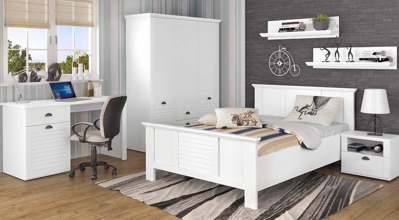 Komplettset Jugendzimmer MARIDA 2 Optik: Weiß matt, von Forte