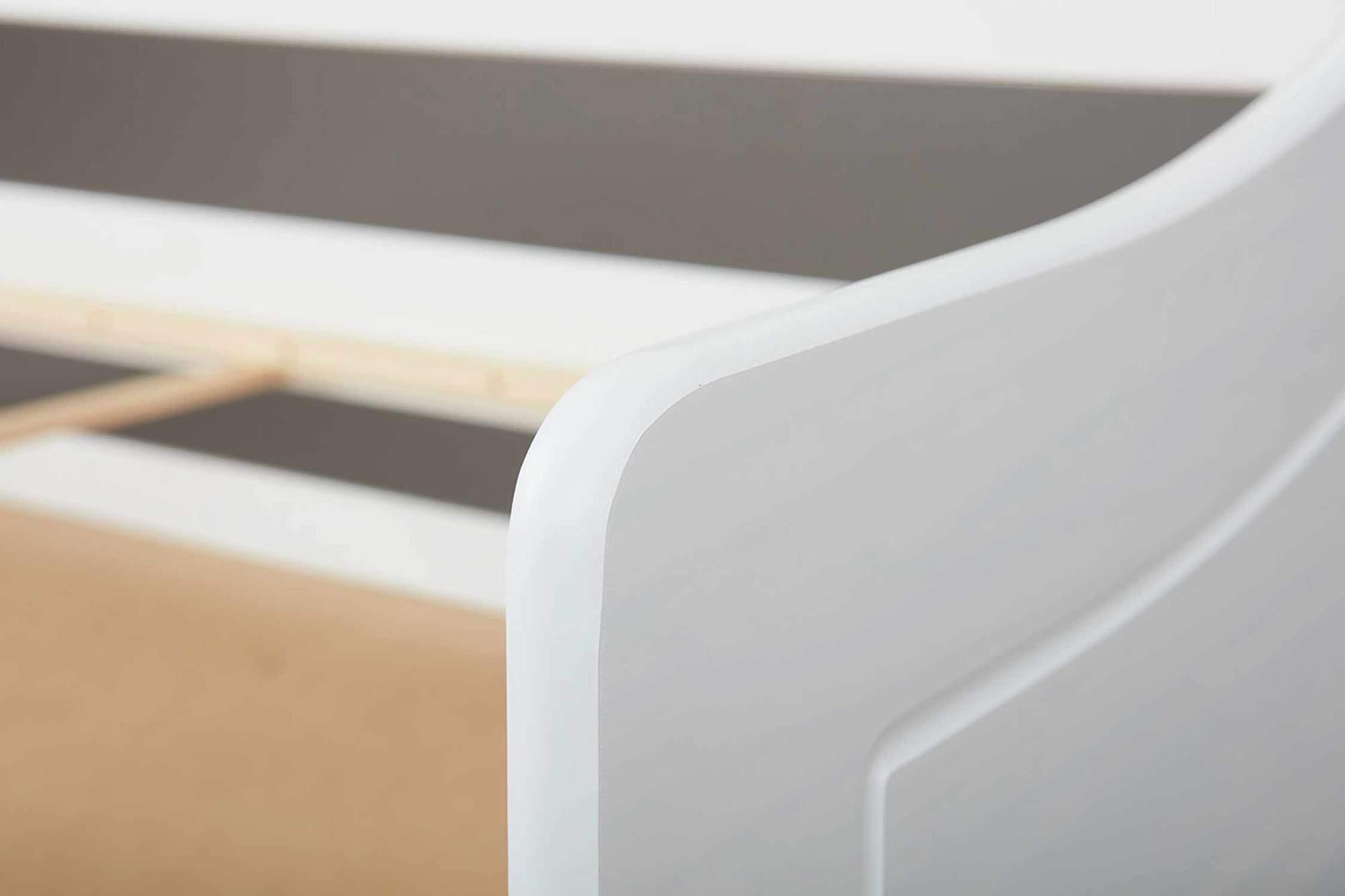 Details Zu Kinderbett Sofabett Malte Weiss Mit Schublade 90 X 200 Kiefer Massiv