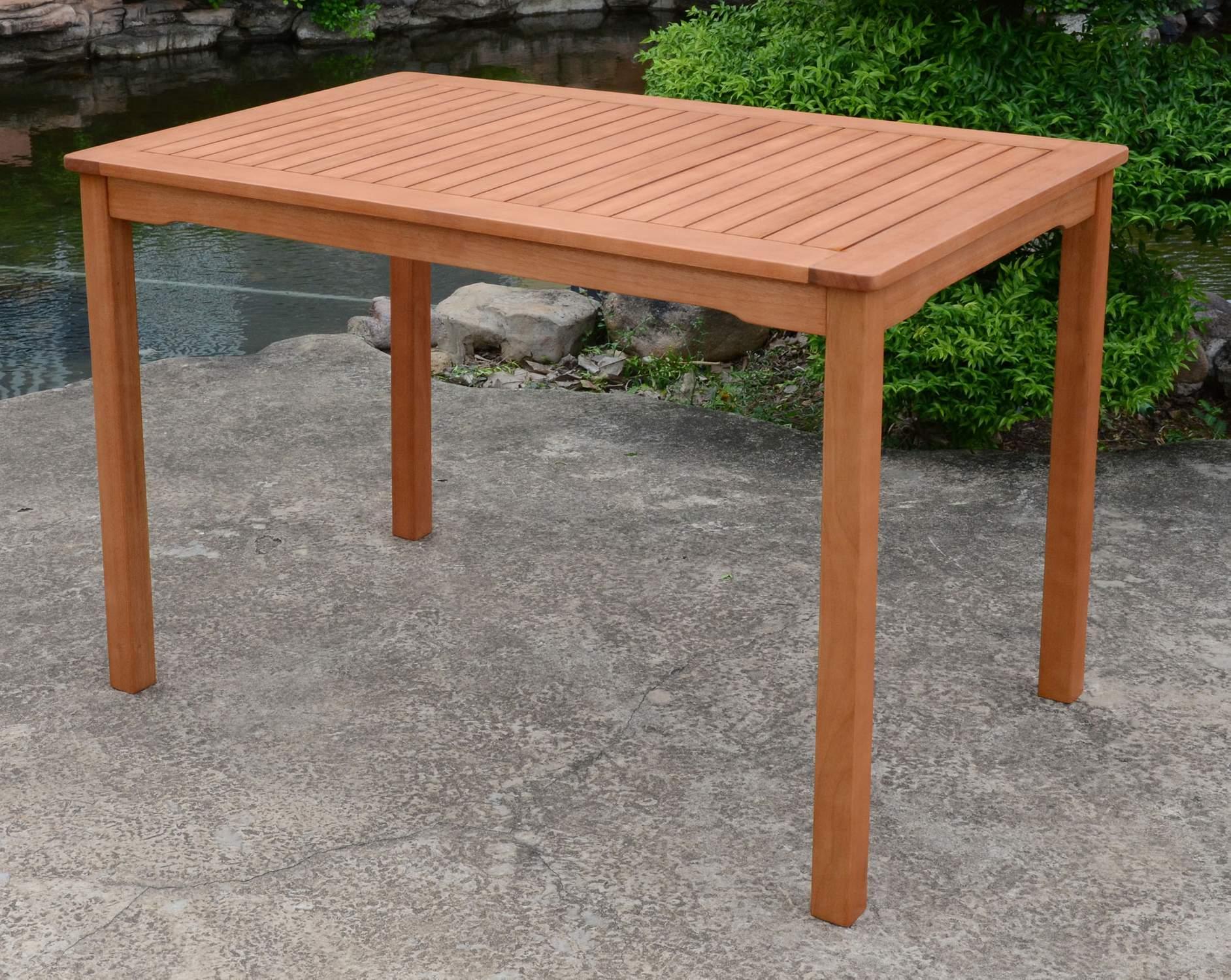 Gartentisch Balkontisch Pittsburgh 110 X 70 Cm Aus Eukalyptus
