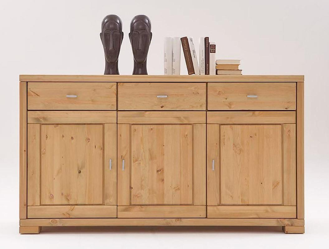 sideboard vita anrichte mit 3 t ren 3 schubladen kiefer massiv. Black Bedroom Furniture Sets. Home Design Ideas
