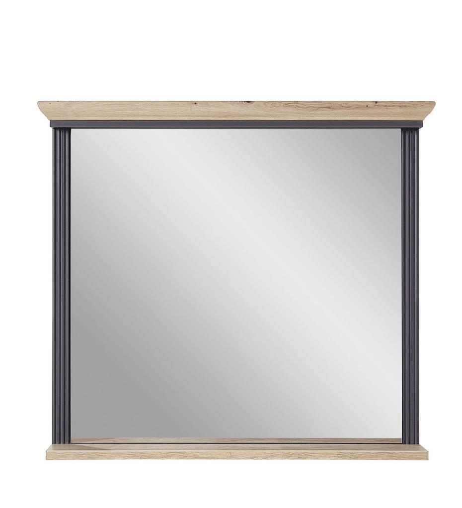 Spiegel JASMIN 93 x 83 cm Farbton Graphit mit Ablage