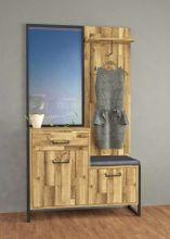 Garderobe HUD, Optik: Stabeiche mit Beton von Forte