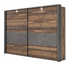 Schwebetürenschrank CLIF Binou 270 + Passpartoutrahmen Old Wood-Optik