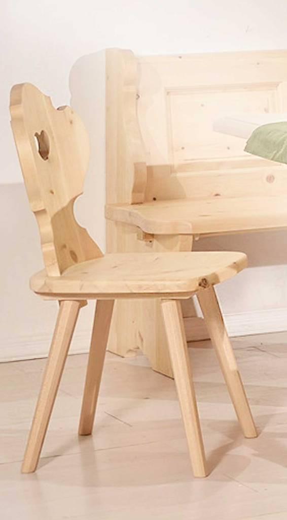 Stuhl ALPEN Esszimmerstuhl aus massiver Zirbe im Landhausstil