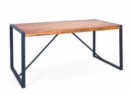 Esstisch GLYMUR 180 x 90 cm Platte Sheesham Massivholz