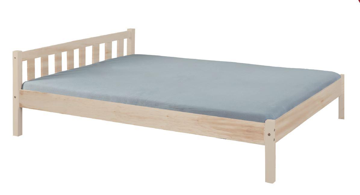Massivholzbett Bett VILMAR 140 x 200, Kiefer milchig weiß lackiert
