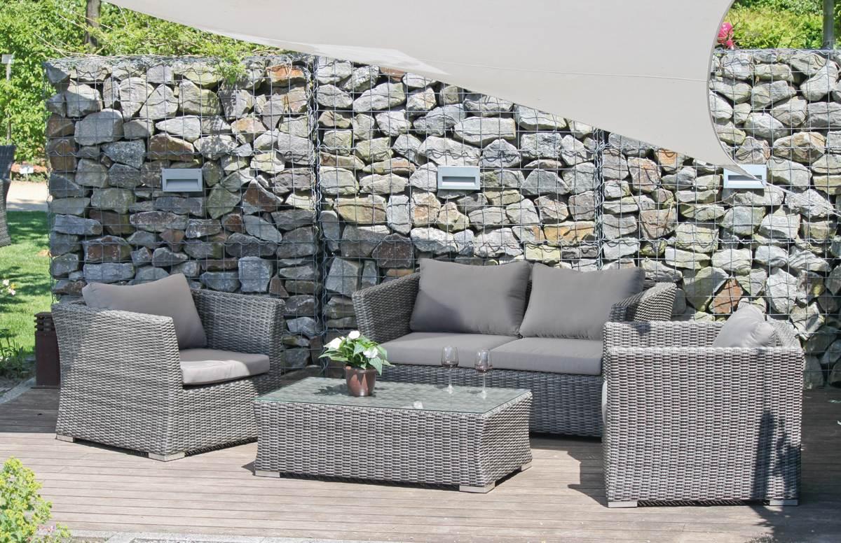 Garten Lounge Gruppe AVILA  4-teilig inkl. Kissen